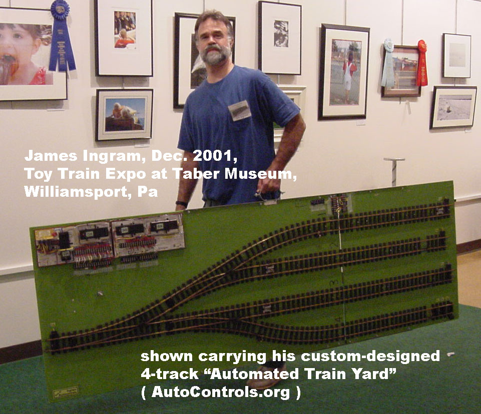 Largescale 4-track automatic yard